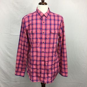 Banana Republic Pink/Blue Plaid Button down Shirt